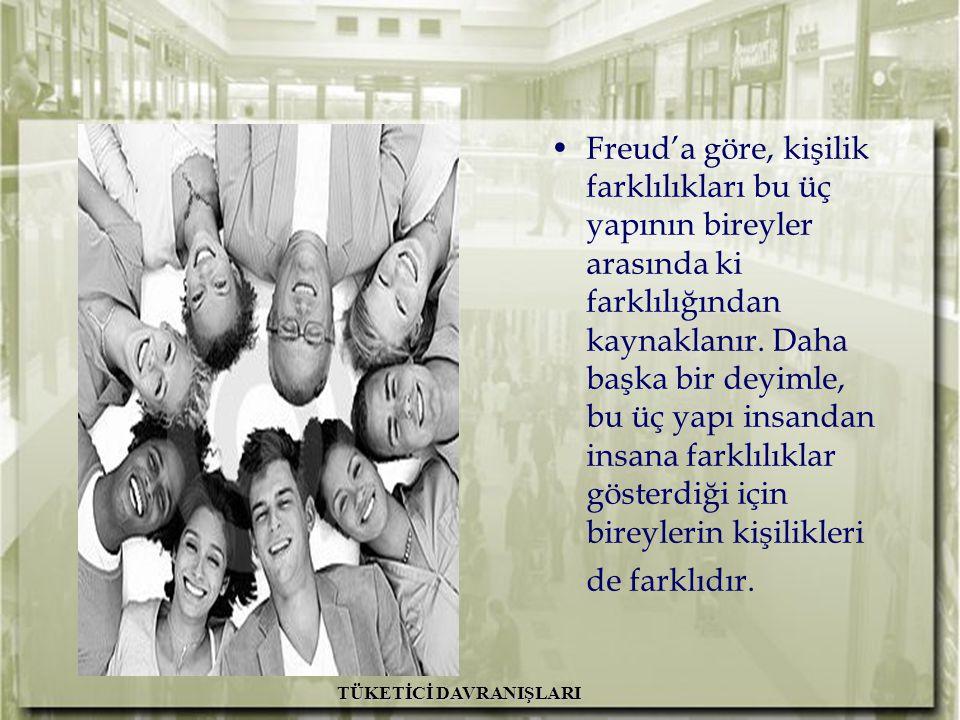 A.H. İslamoğlu R. Altunışık TÜKETİCİ DAVRANIŞLARI Freud'a göre, kişilik farklılıkları bu üç yapının bireyler arasında ki farklılığından kaynaklanır. D