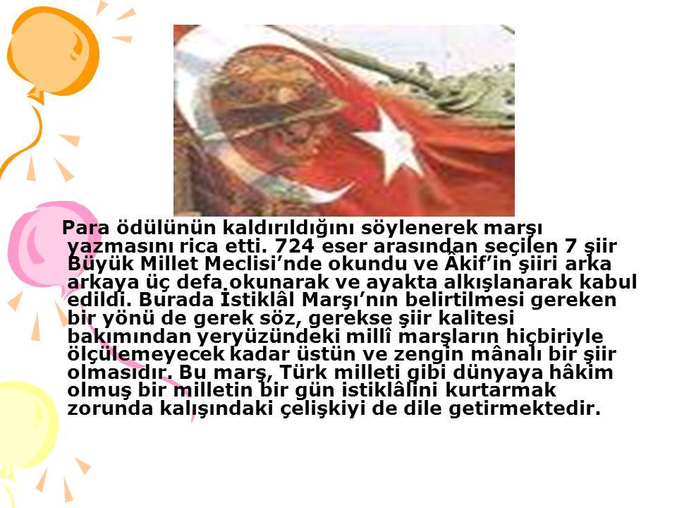 İSTİKLAL MARŞI VE BAYRAK İSTİKLAL MARŞI VE BAYRAK İstiklâl Marşı'nın yazıldığı tarihte Anadolu'nun birçok şehri işgal altındaydı. Muazzam bir devleti