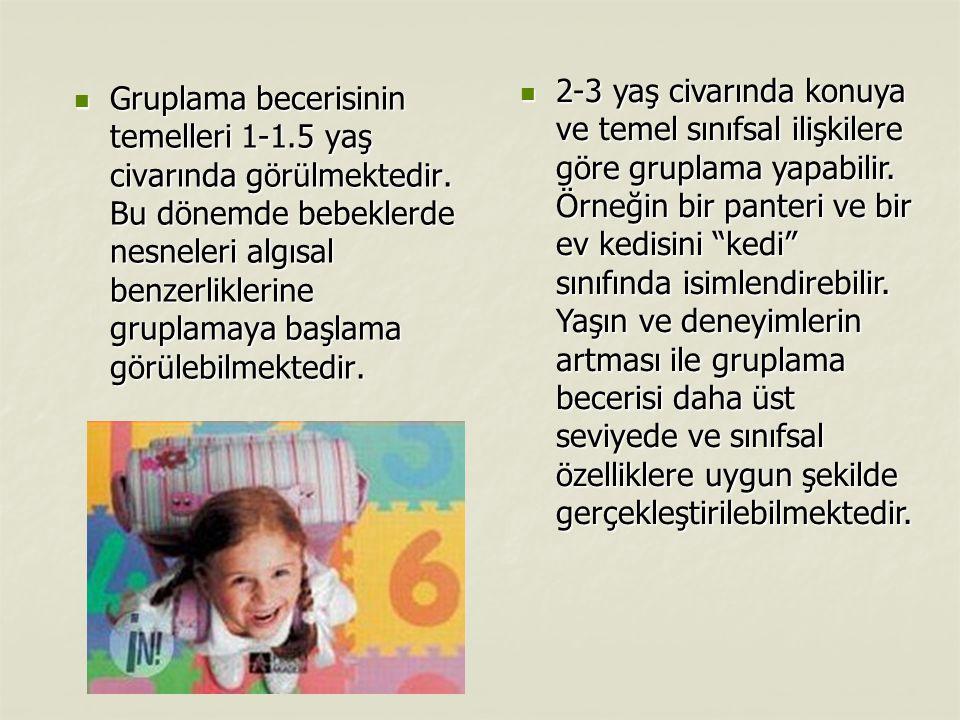 Çocuklar iki yaş civarında sayısal terimleri sıklıkla kullanmaktadır.
