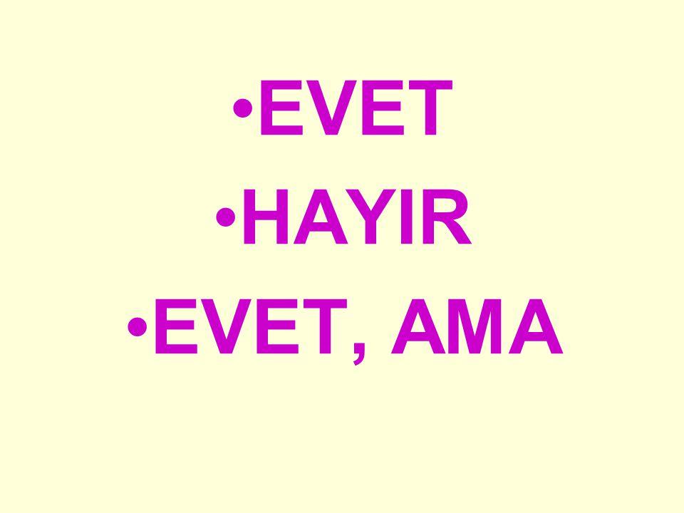 EVET HAYIR EVET, AMA