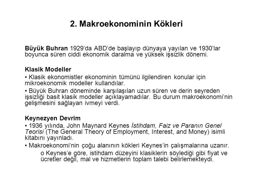 3.Makroekonominin İlgi Alanları Temel olarak 4 konudur: a.