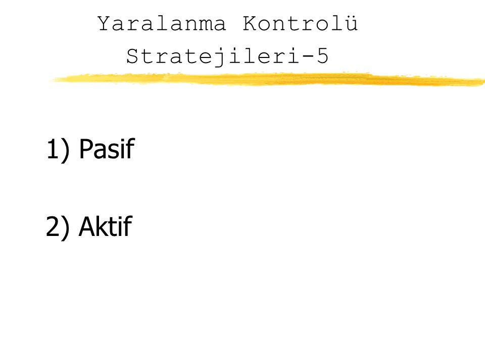 Yaralanma Kontrolü Stratejileri-5 1) Pasif 2) Aktif
