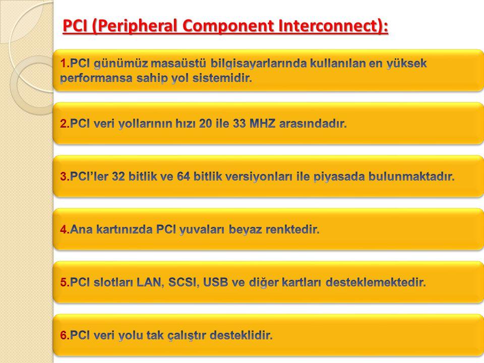 PCI AGP PCI Expres Ekran Kartı Yuva Çeşitleri
