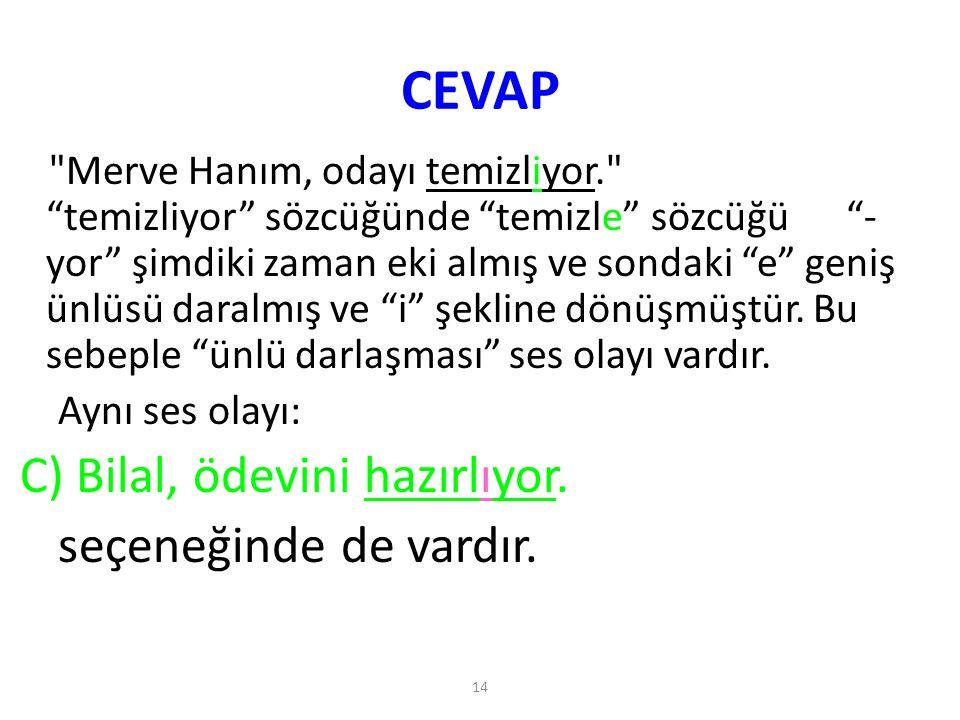 14 CEVAP