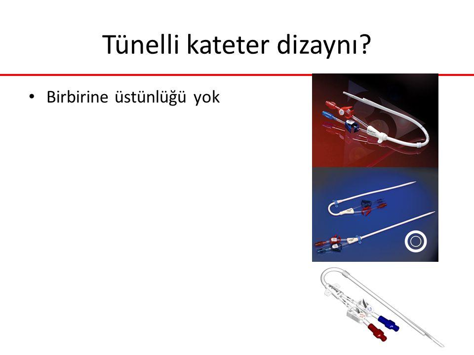 Tünelli kateter dizaynı? Birbirine üstünlüğü yok