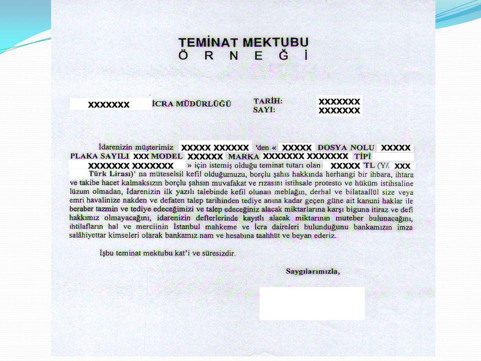 Teminat mektupları, ilk yazılı talep doğrultusunda bankaca ödeneceğinin taahhüt eden geri dönülmez ödeme yükümlülüğüdür.