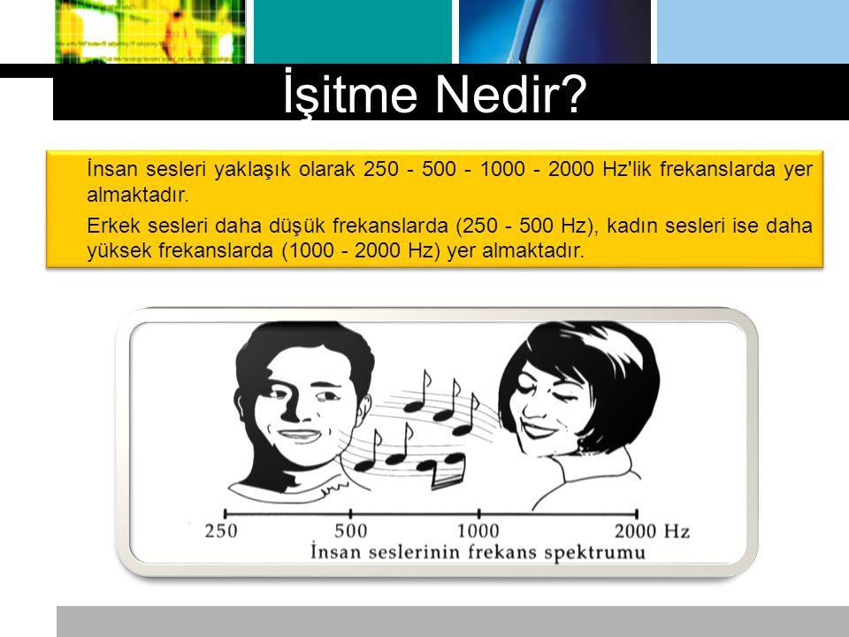 İnsan sesleri yaklaşık olarak 250 - 500 - 1000 - 2000 Hz'lik frekanslarda yer almaktadır. Erkek sesleri daha düşük frekanslarda (250 - 500 Hz), kadın