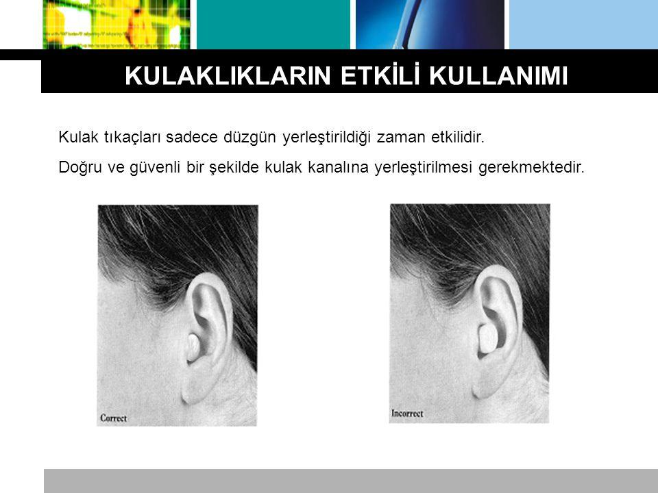 Kulak tıkaçları sadece düzgün yerleştirildiği zaman etkilidir. Doğru ve güvenli bir şekilde kulak kanalına yerleştirilmesi gerekmektedir.