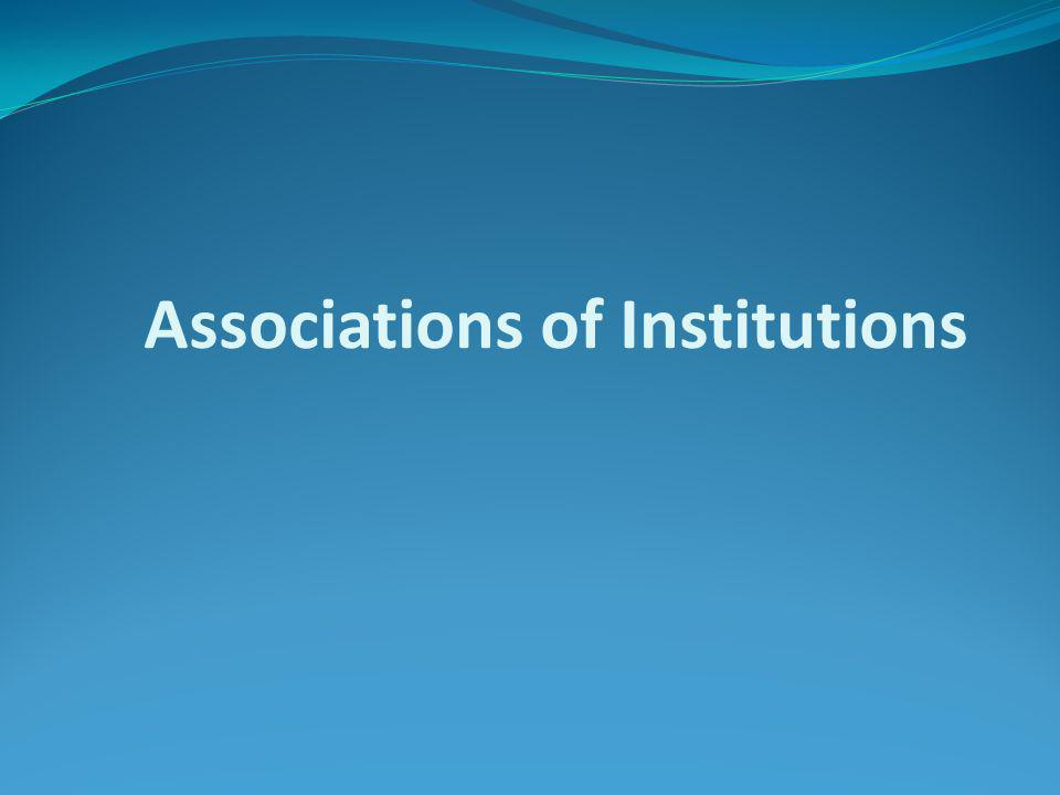 Associations of Institutions