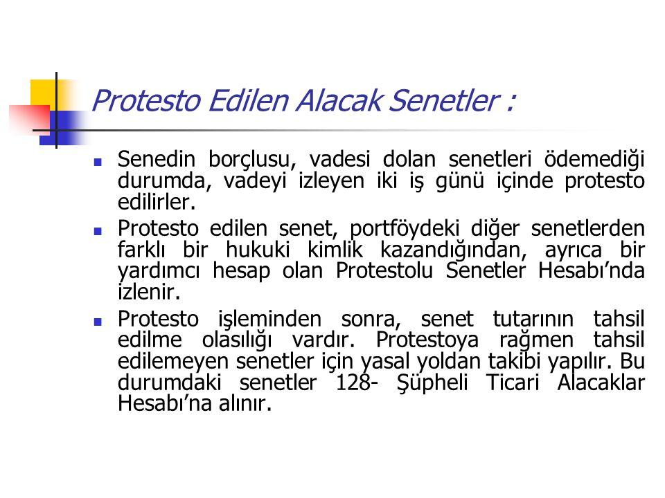 Protesto Edilen Alacak Senetler : Senedin borçlusu, vadesi dolan senetleri ödemediği durumda, vadeyi izleyen iki iş günü içinde protesto edilirler. Pr