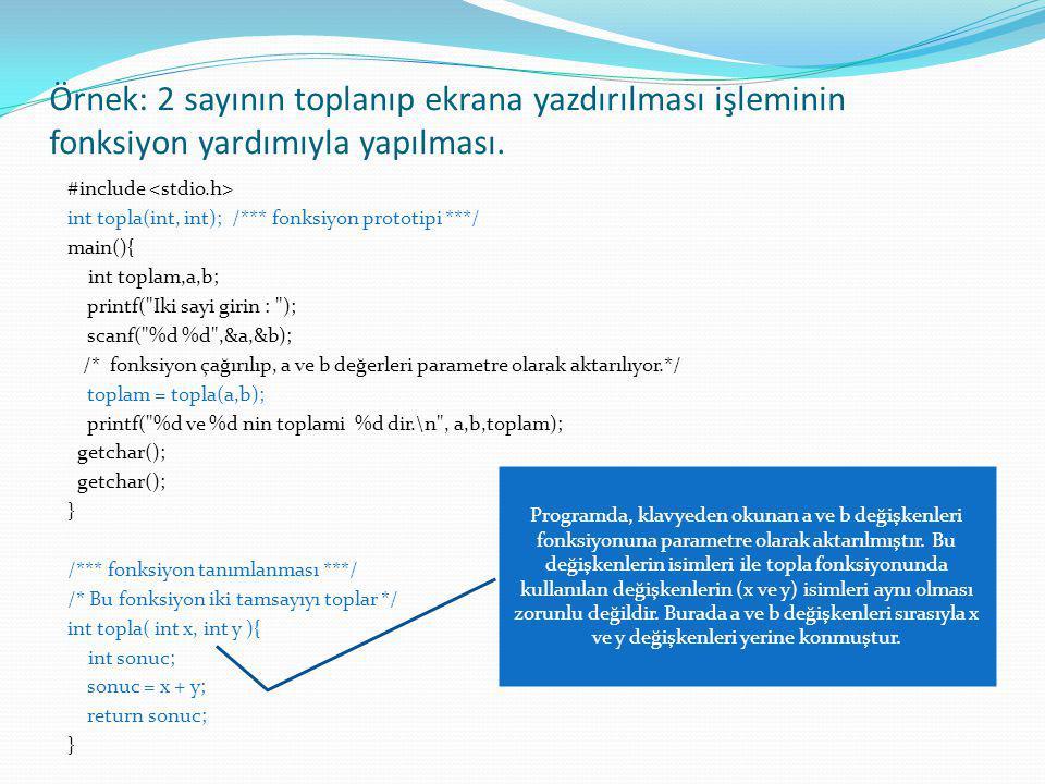 Klavyeden girilen bir metin içerisindeki büyük harfleri recursive fonksiyon ile yazan program #include recursive (char*,int,int); main() { char dizi[40],*ptr; int i,adet,x; ptr=dizi; printf( \n Bir Karakter Katari Giriniz \n\n ); gets(ptr); adet=strlen(ptr); x=0; printf( \n\n Girilen Metindeki Buyuk Harfler ==> ); recursive(ptr,adet,x); getch(); } recursive(char *ptr_1,int adet1,int i ) { if(adet1==0) return 1; if(isupper(ptr_1[i])) printf( %c ,ptr_1[i]); recursive(ptr_1,adet1-1,i+1); }