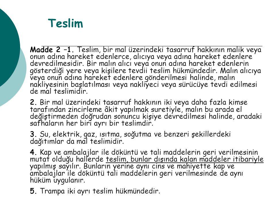 Teslim Madde 2 –1.