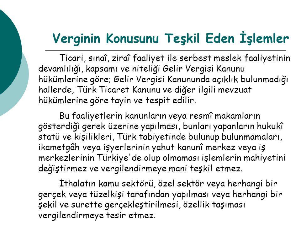 Bakanlıkça İhdas Edilen Vergi Sorumlulukları  GVK 70.