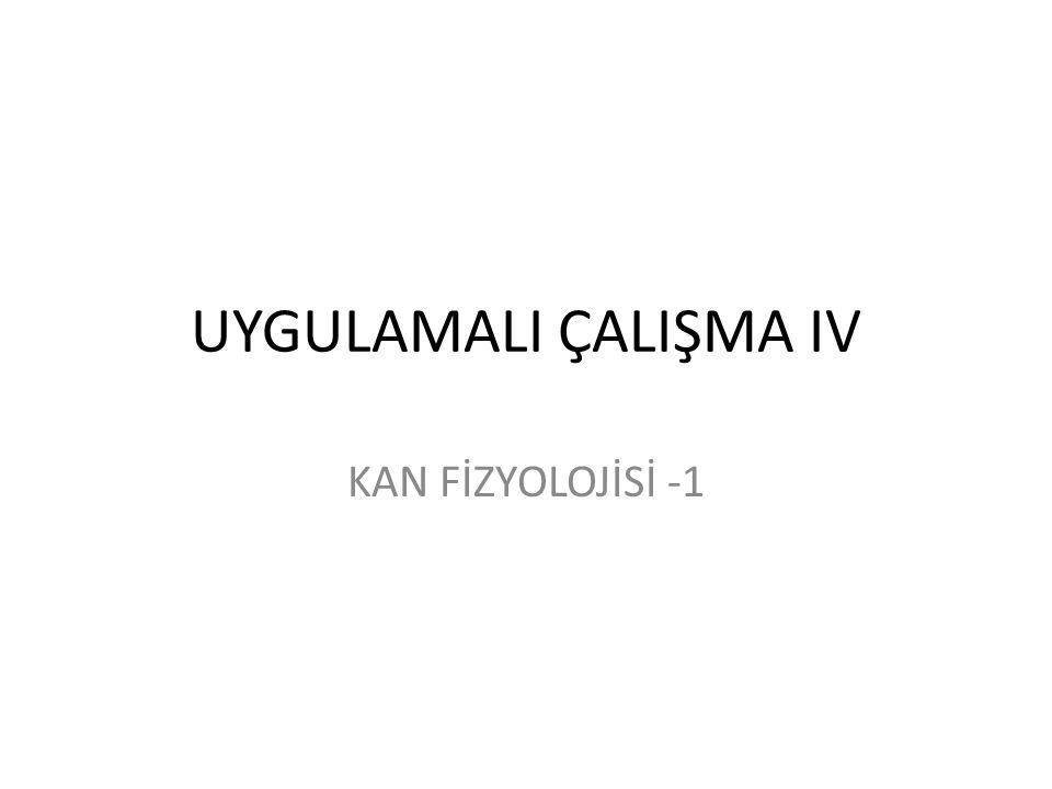 ERİTROSİTLERİN GÖRÜNÜMÜ 1/4 mm