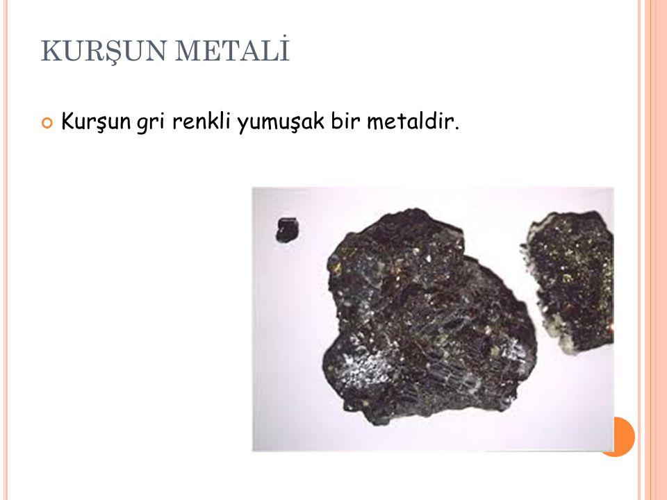 Kurşunun en çok rastlanılan cevherleri; galen (PbS) galen Genel olarak sfalerit (ZnS),sfalerit gümüş ve pirit (FeS 2 ) ile birleşik halde bulunur.pirit serüsit (PbCO 3 ) serüsit ve anglezittir (PbSO 4 ).anglezittir