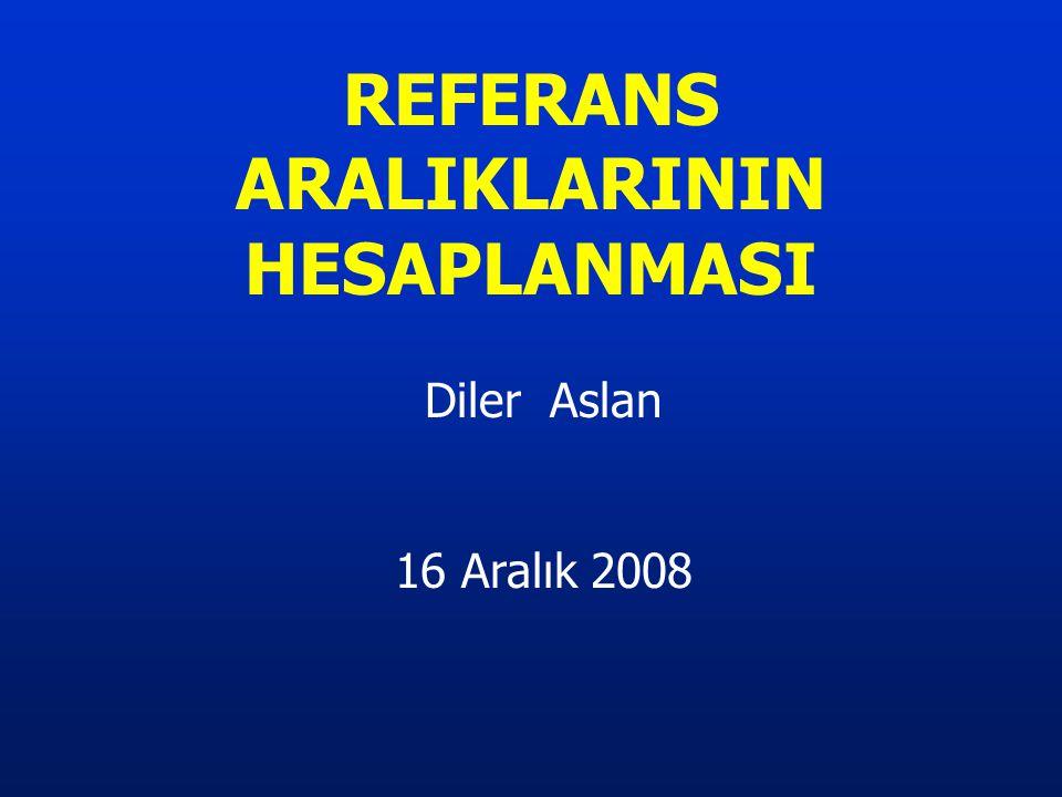 Diler Aslan 16 Aralık 2008 REFERANS ARALIKLARININ HESAPLANMASI