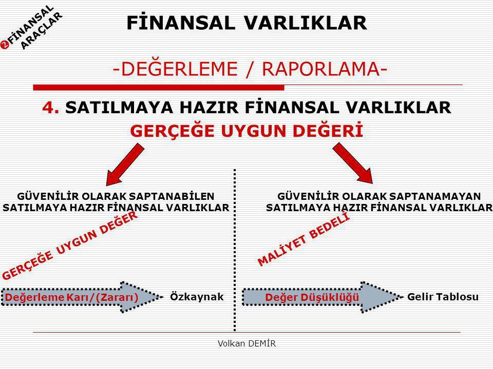 Volkan DEMİR FİNANSAL VARLIKLAR -DEĞERLEME / RAPORLAMA- 4.