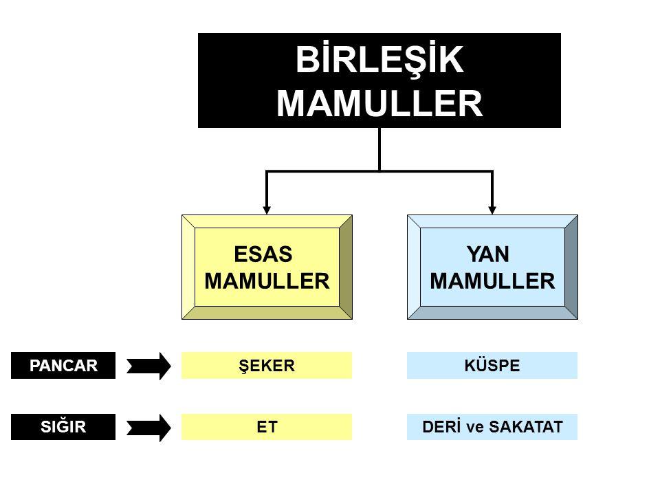 (1) Birinci Aşama : Ayrılma noktasına kadar oluşan tüm birleşik maliyetler, birleşik mamullere miktar , değer veya diğer yöntemlerden birine göre dağıtılır.