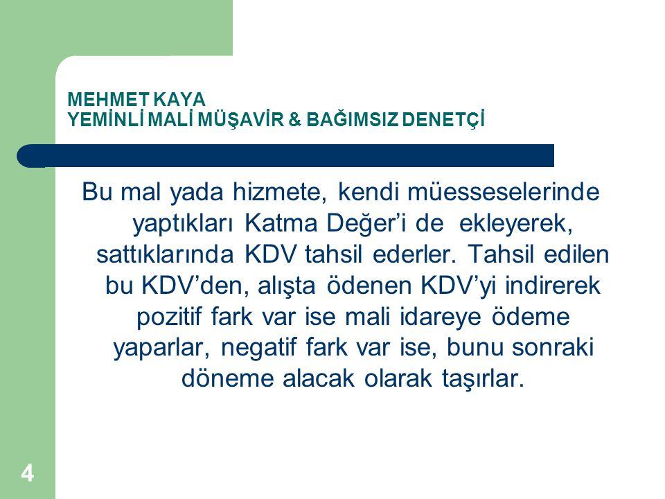 MEHMET KAYA YEMİNLİ MALİ MÜŞAVİR & BAĞIMSIZ DENETÇİ Türkiye'deki satıcı, KDV'yi fiyata ekleyerek (KDV dahil) satmaya kalksa, satış fiyatı yükselecek, bu durumda rekabet şansını zora sokacağından, muhtemelen satış yapamayacak.