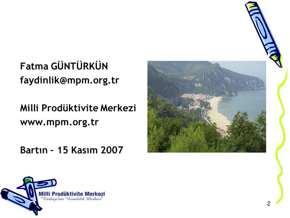 3 Milli Prodüktivite Merkezi 1998 GAZİANTEP Güneydoğu Anadolu Bölge Müd.