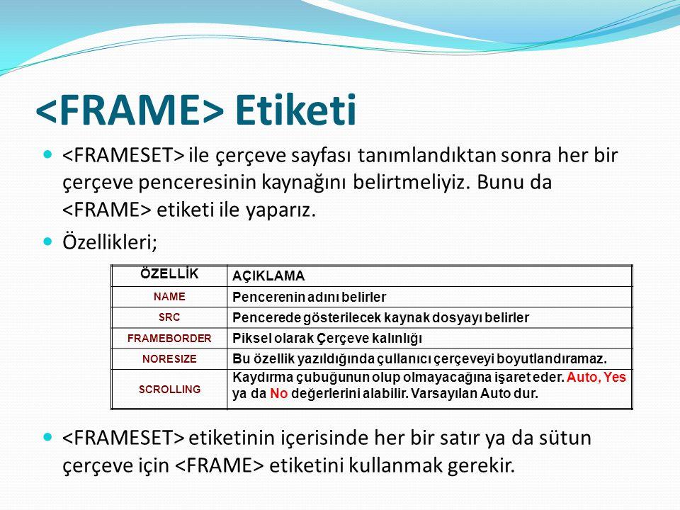 HTML Formları Örnek: form1.htm Müşteri Kayıt Formu Müşteri Kayıt Formu Adı :