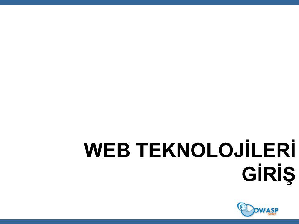 32 Web Uygulama Kavramları Web uygulamalar için genel kritik bileşenler ve konular  HTTP İstek  HTTP Cevap  Oturum yönetimi (genellikle cookie'ler yardımı ile) Web Güvenlik Toplulu ğ u / OWASPTR