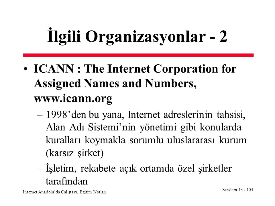 an overview of the internet corporation for assigned names and numbers