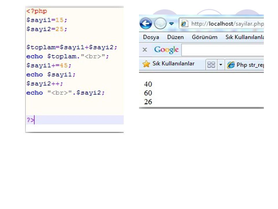 Değişken Öldürme - unset() Oluşturulan tüm değişkenler bilgisayarın Ram'inde saklanır, bu da sunucu kaynaklarının tükenmesine sebep olur.