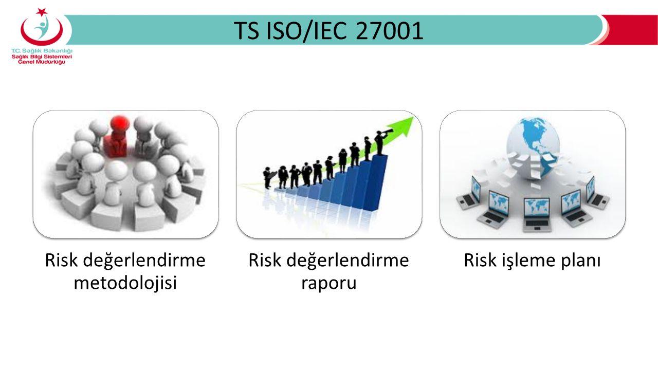 TS ISO/IEC 27001 Risk değerlendirme metodolojisi Risk değerlendirme raporu Risk işleme planı