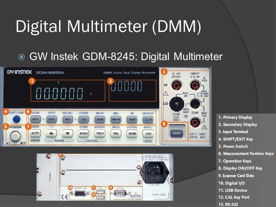 Digital Multimeter (DMM)  GW Instek GDM-8245: Digital Multimeter