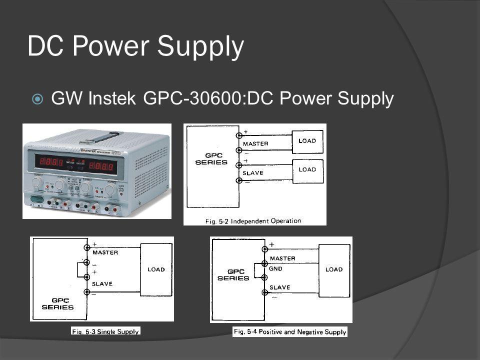DC Power Supply  GW Instek GPC-30600:DC Power Supply