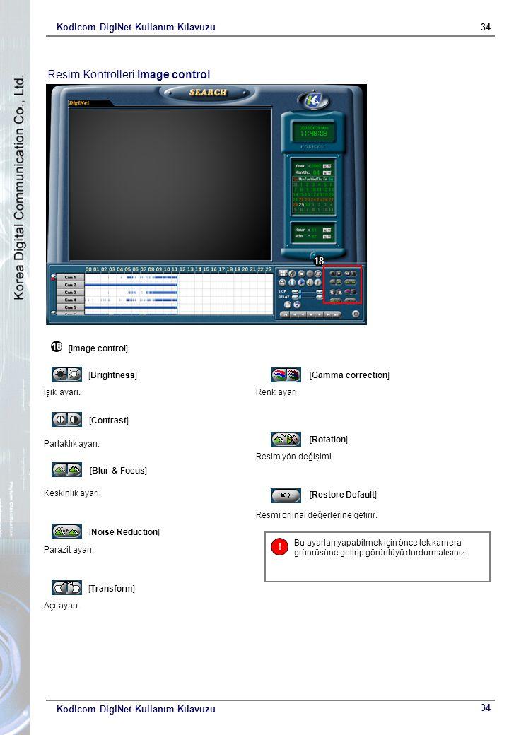 Kodicom DigiNet Kullanım Kılavuzu34 Kodicom DigiNet Kullanım Kılavuzu 18 [Image control] [Brightness] Işık ayarı.