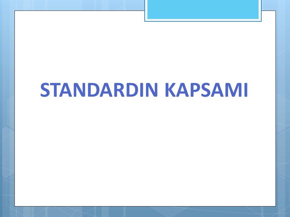 STANDARDIN KAPSAMI
