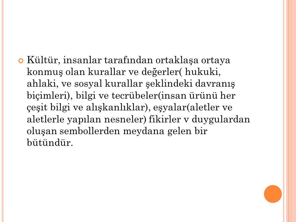 K ÜLTÜR ÇEŞITLERI 1.
