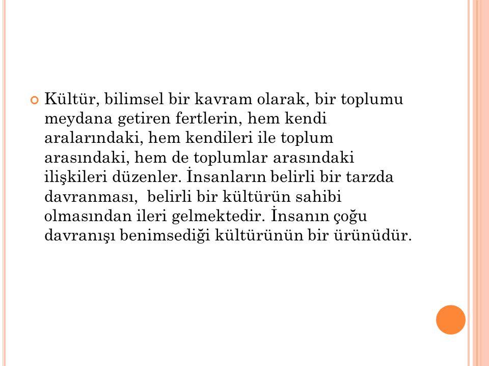 K ÜLTÜR DEĞIŞIM TIPLERI 1.