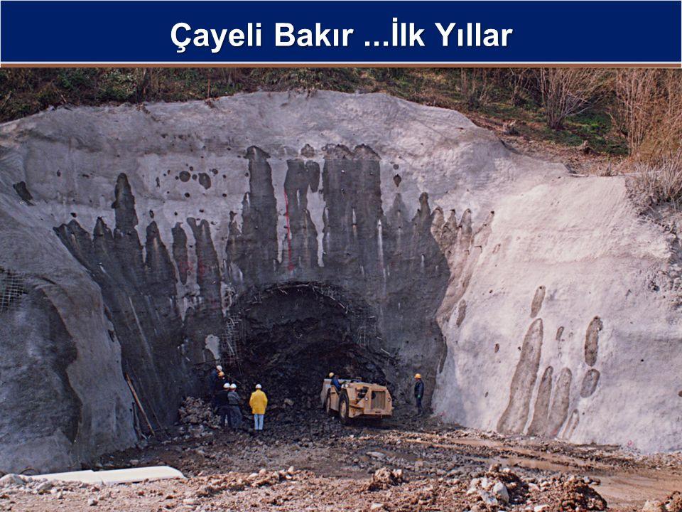 Çayeli Bakır Maden Ömrü Boyunca Üretim