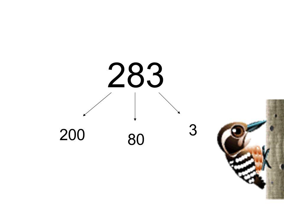 Basamak değeri200 Basamak değeri80 Basamak değeri3 +. 283 283