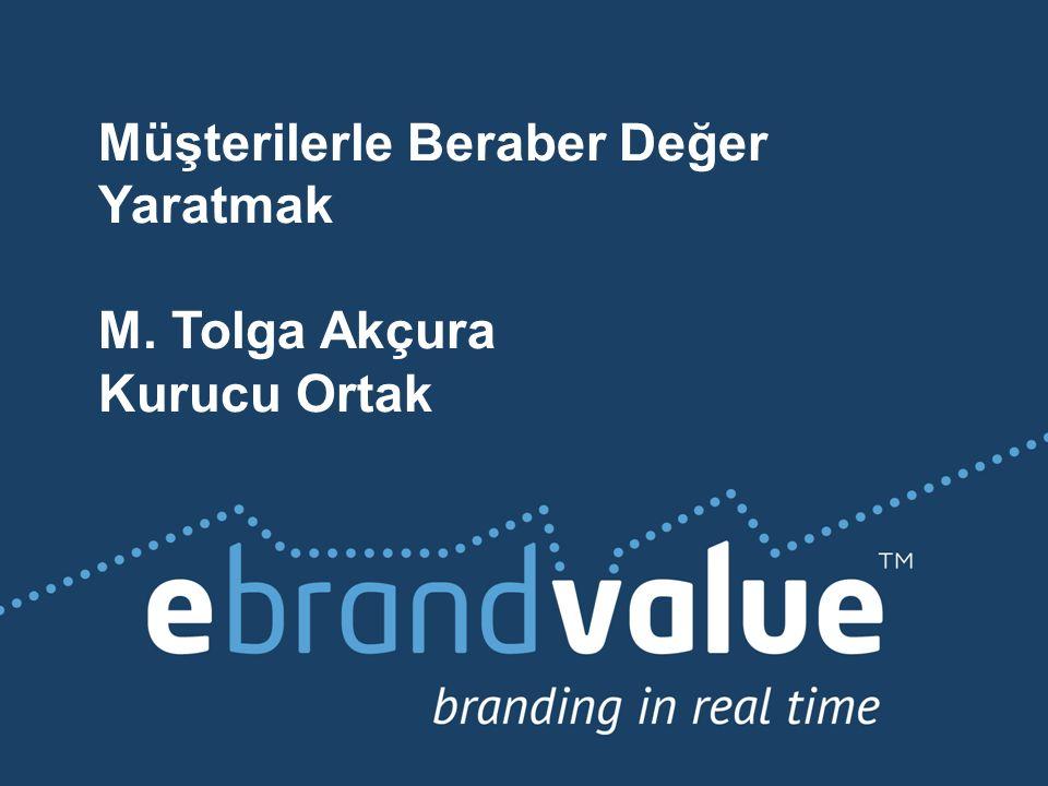 Müşterilerle Beraber Değer Yaratmak M. Tolga Akçura Kurucu Ortak