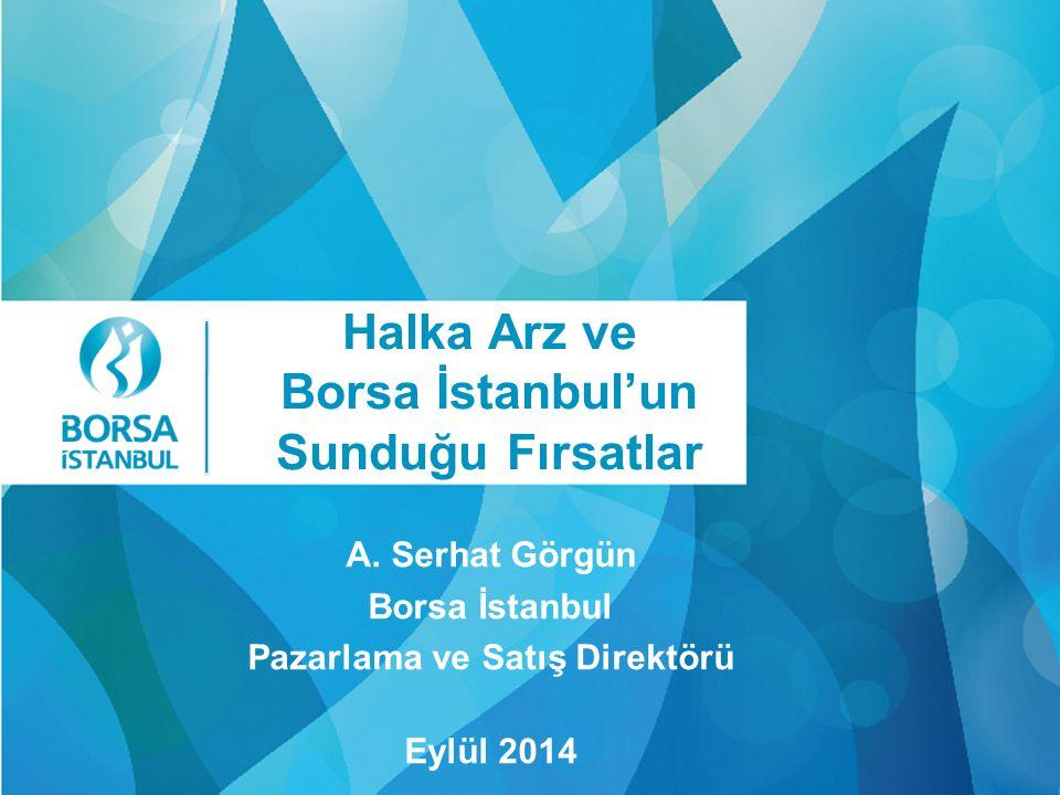 Click Halka Arz ve Borsa İstanbul'un Sunduğu Fırsatlar A. Serhat Görgün Borsa İstanbul Pazarlama ve Satış Direktörü Eylül 2014