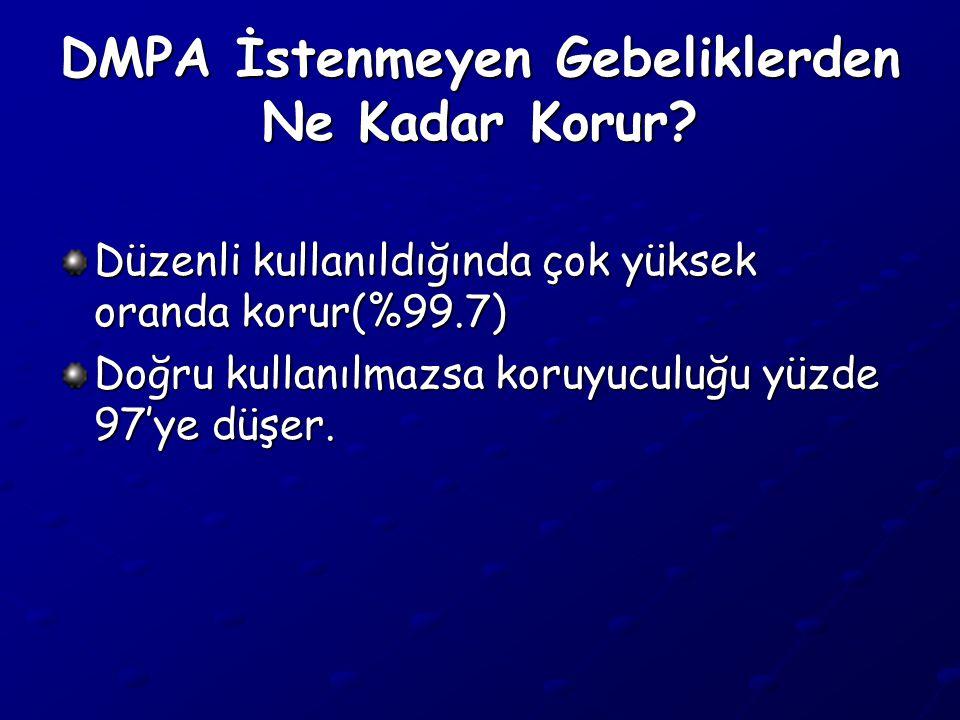 DMPA İstenmeyen Gebeliklerden Ne Kadar Korur.