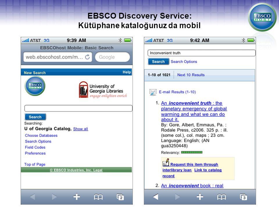 EBSCO Discovery Service: Kütüphane kataloğunuz da mobil