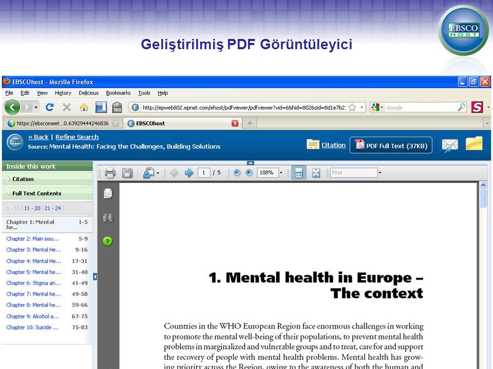Geliştirilmiş PDF Görüntüleyici