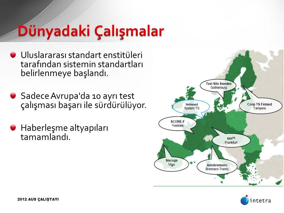 2012 AUS ÇALIŞTAYI Uluslararası standart enstitüleri tarafından sistemin standartları belirlenmeye başlandı. Sadece Avrupa'da 10 ayrı test çalışması b
