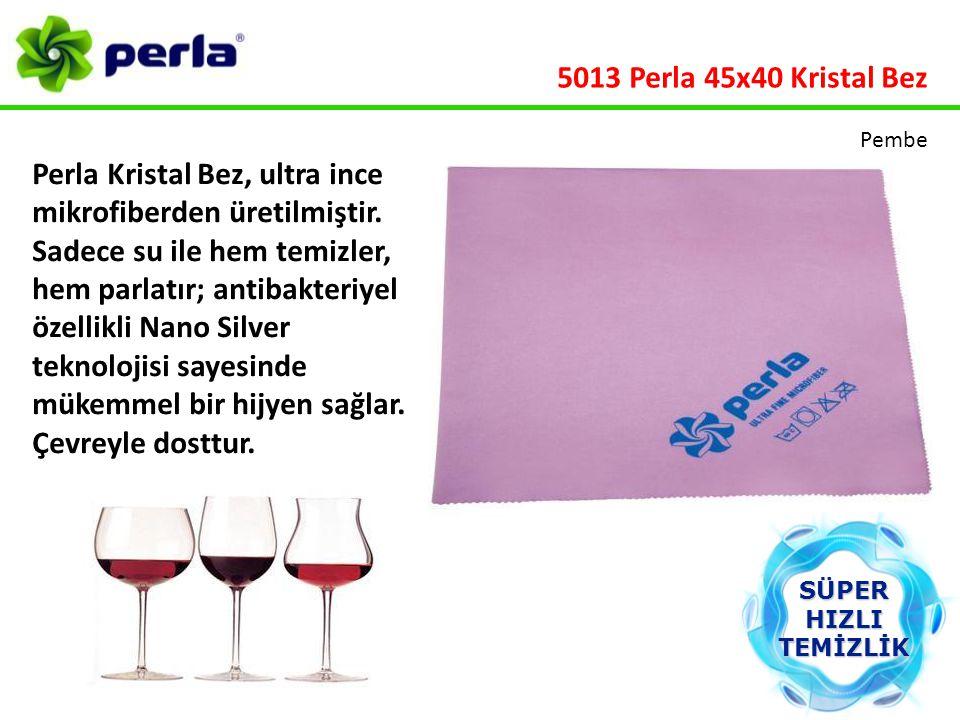 Perla Kristal Bez, ultra ince mikrofiberden üretilmiştir. Sadece su ile hem temizler, hem parlatır; antibakteriyel özellikli Nano Silver teknolojisi s