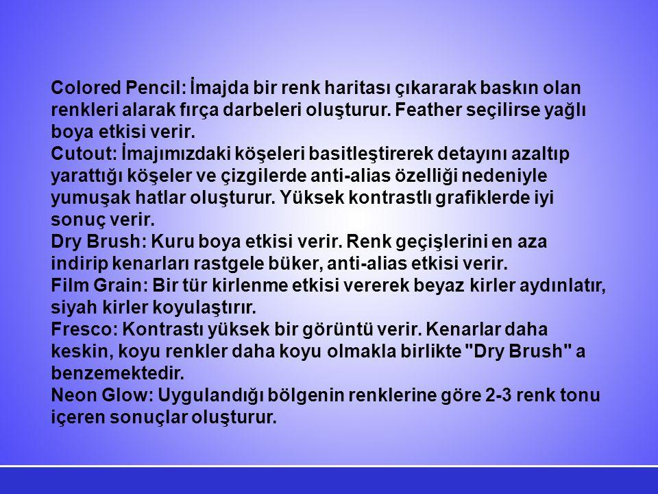 FRAGMENT FİLTRESİMOSAIC FİLTRESİPOINTILLIZE FİLTRESİ