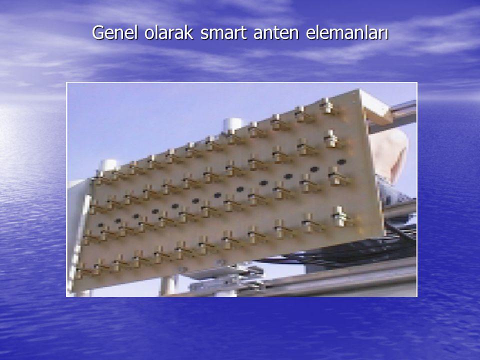 Genel olarak smart anten elemanları