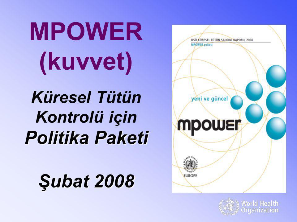 Politika Paketi Şubat 2008 MPOWER (kuvvet) Küresel Tütün Kontrolü için Politika Paketi Şubat 2008