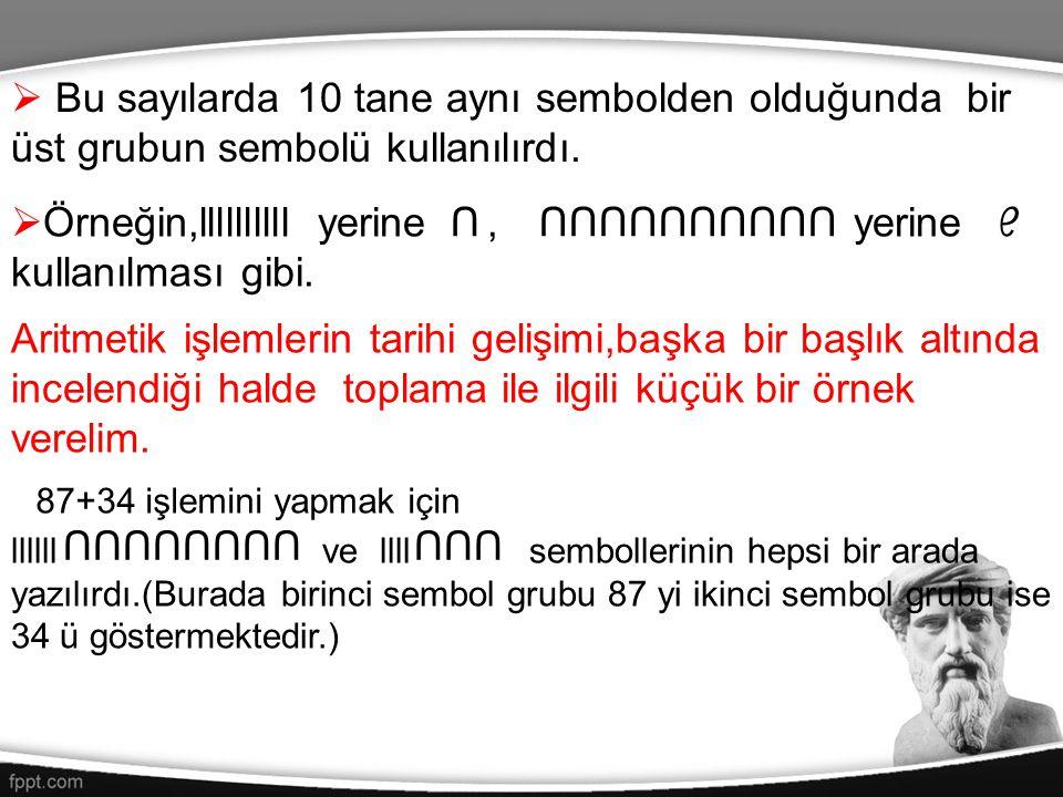  Babil rakamları ile yazılmış bazı sayı örnekleri;