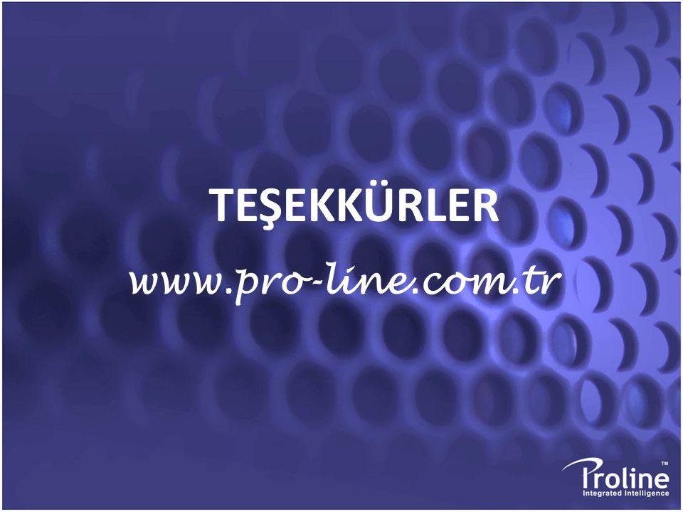 TEŞEKKÜRLER www.pro-line.com.tr