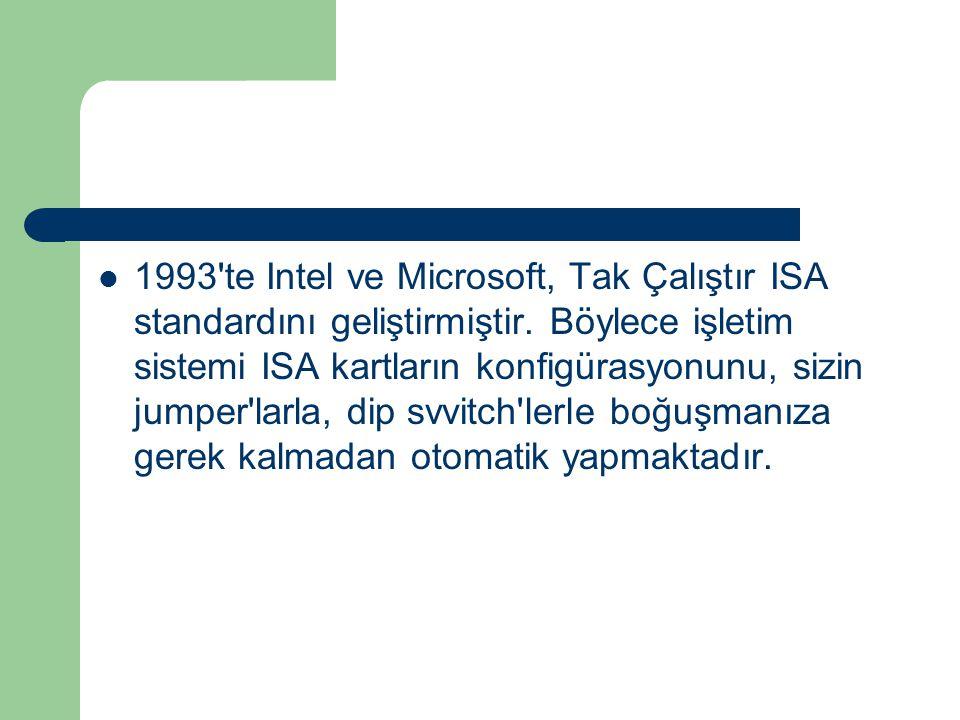 1993 te Intel ve Microsoft, Tak Çalıştır ISA standardını geliştirmiştir.